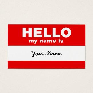 Bonjour mon nom est cartes de visite
