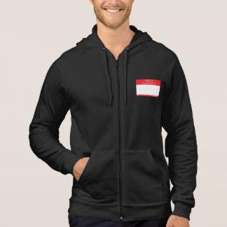 Bonjour mon pronom est… (les couleurs foncées) veste à capuche