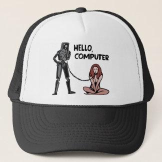 Bonjour, ordinateur casquette