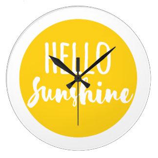 Bonjour soleil grande horloge ronde