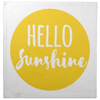 Bonjour soleil serviette imprimée