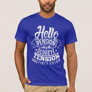 Bonjour tension 2016 de pension au revoir t-shirt