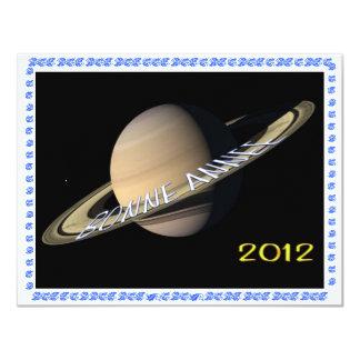 BONNE ANNEE 2012 HAPPY NEW YEAR CARTON D'INVITATION 10,79 CM X 13,97 CM