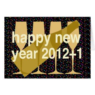 Bonne année 2013 pour superstitieux carte