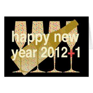 Bonne année 2013 pour superstitieux carte de vœux