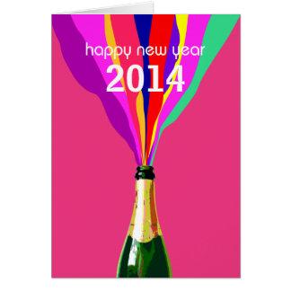 Bonne année 2014, personnalisable carte de vœux