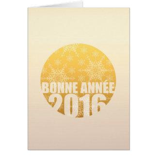 Bonne Année 2016 - carte française de nouvelle
