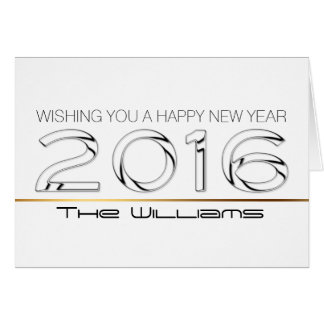 Bonne année 2016 personnalisée 1 de salutation carte de vœux