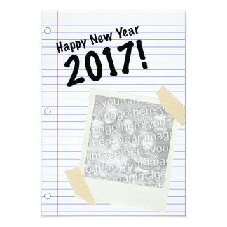 Bonne année 2017 carton d'invitation 8,89 cm x 12,70 cm