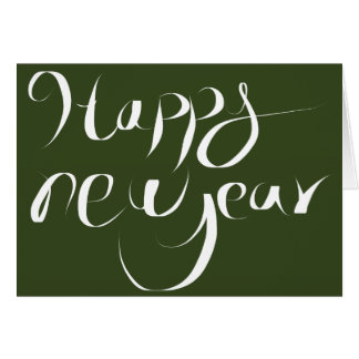 Bonne année carte de correspondance