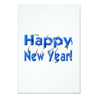 Bonne année carton d'invitation 8,89 cm x 12,70 cm
