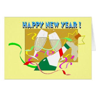 Bonne année Champagne Carte De Vœux