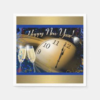 Bonne année serviette jetable