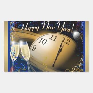 Bonne année sticker rectangulaire
