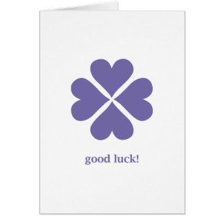 bonne chance 02 carte de vœux