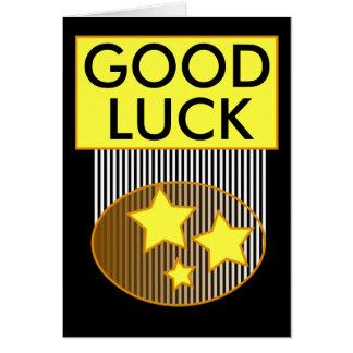 Bonne chance 3 étoiles jaunes jaunes et carte
