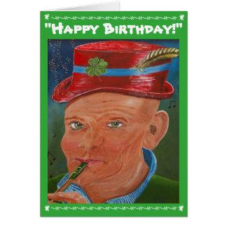 """""""Bonne chance avec votre anniversaire ! """" Carte De Vœux"""