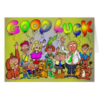Bonne chance carte de vœux