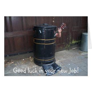 Bonne chance dans votre nouveau travail ! carte de vœux