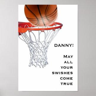 bonne chance de basket-ball poster