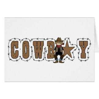 Bonne chance de cowboy - amitié et appui carte de vœux