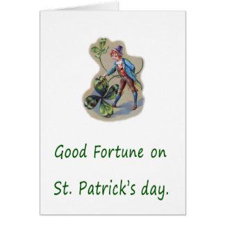 Bonne chance le jour de St Patrick Carte De Vœux