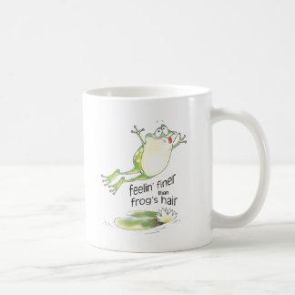 bonne grenouille de feelin mug blanc