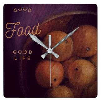 Bonne horloge de fin gourmet de Stilllife