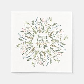 Bonnes fêtes à tous serviette en papier