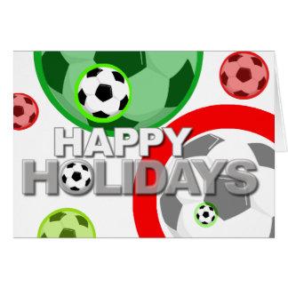 Bonnes fêtes ballon de football de carte