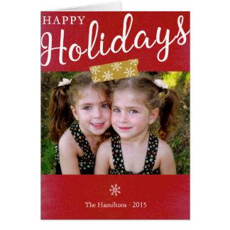 Bonnes fêtes carte de note de photo de Noël