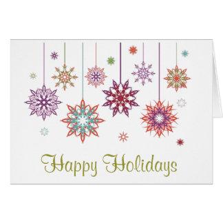 Bonnes fêtes carte de voeux