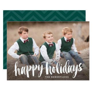 Bonnes fêtes carte photo balayé par blanc