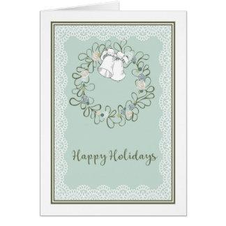 Bonnes fêtes carte saisonnière avec la guirlande