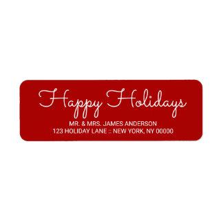 Bonnes fêtes étiquette marqué avec des lettres par