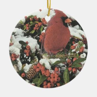 Bonnes fêtes ornement cardinal de Noël