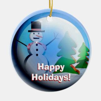 Bonnes fêtes ornement de globe de neige