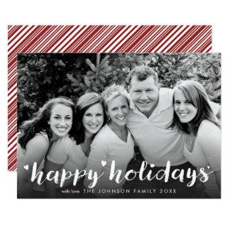 Bonnes fêtes salutation blanche de recouvrement de carton d'invitation  12,7 cm x 17,78 cm