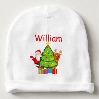 Bonnet Pour Bébé Arbre de Noël d'amusement avec le père noël et