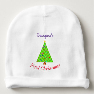 Bonnet Pour Bébé Arbre de Noël décoré + Premier Noël du bébé