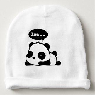 Bonnet Pour Bébé beenie de coton de bébé avec le panda somnolent de