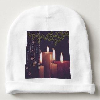 Bonnet Pour Bébé bougies de Noël