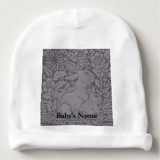 Bonnet Pour Bébé Cadeau personnalisé par lapin de casquette de bébé