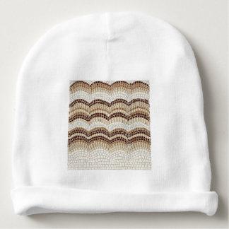 Bonnet Pour Bébé Calotte beige de coton de bébé de mosaïque