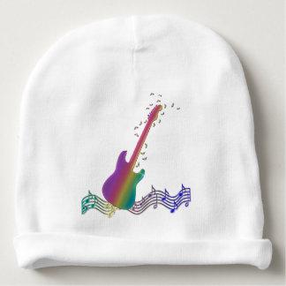 Bonnet Pour Bébé Calotte de guitare d'arc-en-ciel de Rockstar de