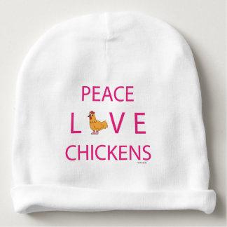 Bonnet Pour Bébé Calotte de nourrisson de poulets d'amour de paix