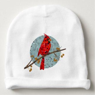 Bonnet Pour Bébé Collage cardinal d'oiseau de Noël