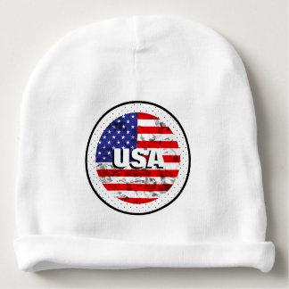 Bonnet Pour Bébé Conception métallique 2 de drapeau américain