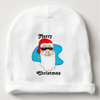 Bonnet Pour Bébé Cool Père Noël de Joyeux Noël dans des lunettes de