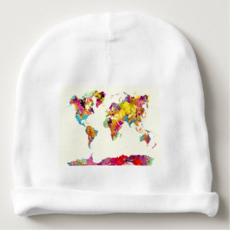 Bonnet Pour Bébé couleurs de carte du monde